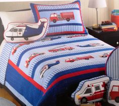 Authentic Kids Search and Rescue Boys Cotton Quilt Set