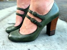 cloth, green, librarian style, mary janes, nice, feet, heels, closet, shoe