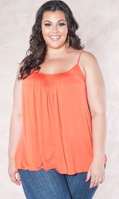 Summer trend: Orange and tangerine are huge colors for Summer! Add a pop to your wardrobe with our Pretty Cami! $29