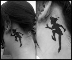 peter pan silhouette tattoo.