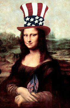 Patriotic Mona Lisa