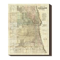 Neat historic #Chicago map - pre-fire.