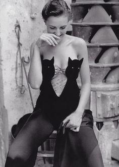helmut lang cat bodysuit, 1989.