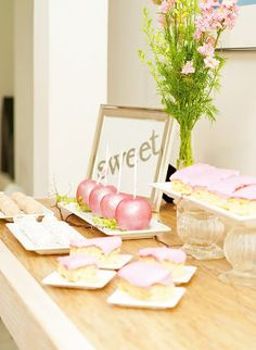 gorgeous wedding dessert buffet (MeShenee Photography)  #wedding #weddingdessert #candybuffet #dessertbuffet