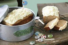 BANANA CAKE WITH CREAM CHEESE ICING ~ recipe Alison Roberts ~ pic Steve Brown/NewsLifeMedia