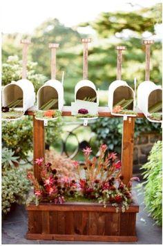 an organized garden - mailboxes