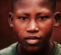 Portrait of a boy from Maputo, Mozambique.