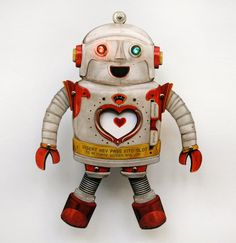 Gifts for the dad who has everything: Custom Robot LED paper puppet toy