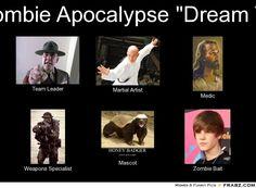 Funny: zombie apocalypse survival team