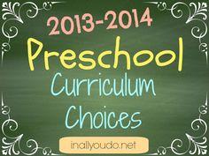 20132014 preschool, preschool curriculum