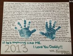 Anything Like Me - Brad Paisley Handprint Craft for Father's Day - House of Burke