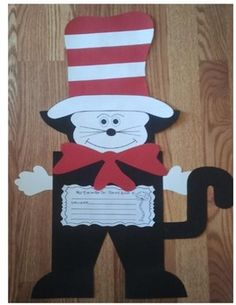Dr. Seuss Inspired Cat Writing Craftivity - Janet Rainey - TeachersPayTeache...