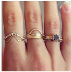 { layering of rings }