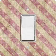 "Rikki KnightTM Grunge Pink Diagonal Floral Stripes Single Rocker Light Switch Plate Cover by Rikki Knight. $14.99. The Grunge Pink Diagonal Floral Stripes single toggle light switch cover is made of commercial vibrant quality masonite Hardboard that is cut into 5"" Square with 1'8"" thick material. The Beautiful Art Photo Reproduction is printed directly into the switch plate and not decoupaged which make these Light Switch Plates suitable for use in any room in the office..."