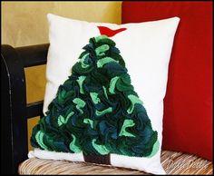 Felt Christmas Tree Pillow