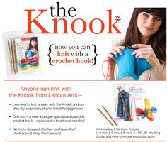 Knook - knit with a crochet hook - how to