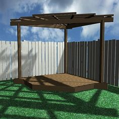 Why do pergolas have to be so expensive to buy as a kit?  If I ever plan to build one I'll have to do it from scratch.  Boo, that's not my expertise. Corner Pergolas, Pergola Plan, Garden Pergola Corner, Corner Garden Pergola