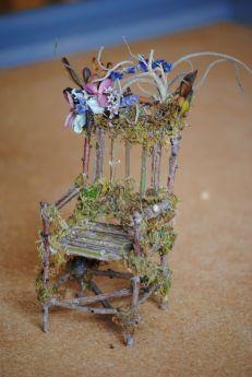 beach chairs, garden chairs, fairi hous, fairi garden, fairy houses