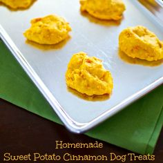Sweet Potato Cinnamon Dog Treats.
