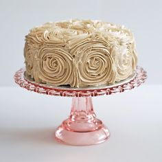 Marzipan: Romantic Rose-Covered Red Velvet Cake with Cinnamon Buttercream Icing