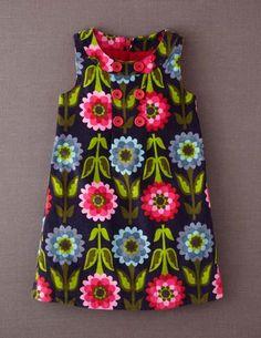 Girls Button Pinafore Dress #Boden