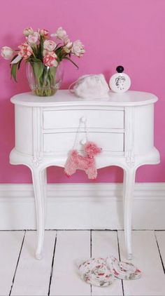 Shabby chic entry table or side table