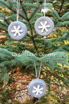jar lid, christma tree, primitive tree ornaments, christmas trees, christmas tree ornaments
