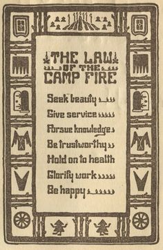 Law of the Campfire.