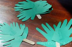 Handprint Palm Branches- Palm Sunday