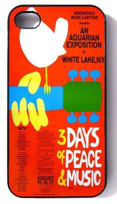 Woodstock - iphone 4 case,  iphone case,  iphone 4s case,  iphone 4s,  iphone 4 cover,   iphone hard case,  iphone 4, iphone. $19.95, via Etsy.