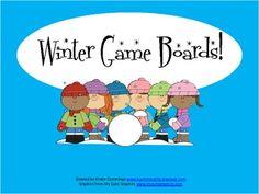 FREEBIE Winter Game Boards!