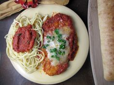 Malibu Kitchen's Panko Crusted Chicken Parmesan.