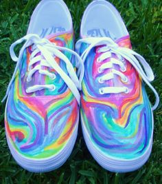 Custom Hand-Painted Shoes (Shoes and Art). $40.00, via Etsy.