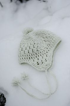 Crochet Snow Hat - Tutorial ❥ 4U // hf