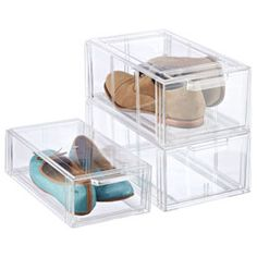 The Container Store  Clear Shoe Drawers