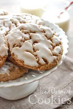 Iced Oatmeal Cookies.