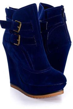 Blue booties, so cute! a litttttle tall for me.