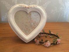 photo frame, antiqu heart