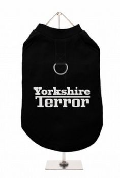 """Yorkshire Terror"" Harness-Lined Dog T-Shirt"