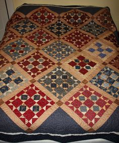 A Civil War Quilt 1860's by QuiltsinMaine on Etsy, $750.00