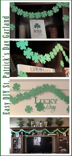 DIY St. Patrick's Day Shamrock Clover Garland @Provo Craft