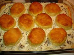 Biscuit and Sausage Gravy Casserole