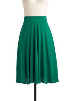 Green There, Done That Skirt, #ModCloth