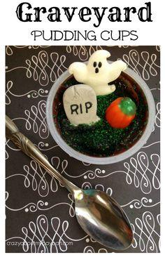 Graveyard Pudding Cups | Halloween Treats for School Parties