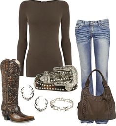 """""""Western"""" #countryoutfit #country #countryfashion #countrystyle For more Cute n' Country visit: www.cutencountry.com and www.facebook.com/cuteandcountry"""