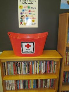 FREE Book Hospital and Book Return signs