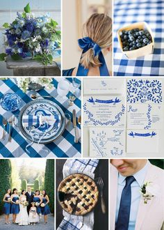 #wedding #inspiration #board: blueberry gingham