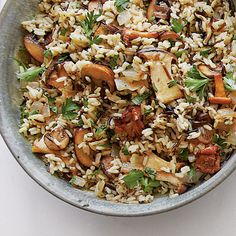 Wild Rice with Mushrooms Recipe | Dress up a package of long-grain and wild rice mix with the addition of fresh mushrooms and Marsala. It will be a guaranteed hit on your Thanksgiving  table.