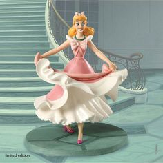 Enesco 2010  Walt Disney Classic Colleciton  ISN'T IT LOVELY? DO YOU LIKE IT?    Dashing downstairs, Cinderella excitedly shows off her pretty party dress lovingly sewed and stitched together by her loyal friends, the mice. Numbered Limited Edition 1,500.