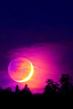 Eclipse in magenta
